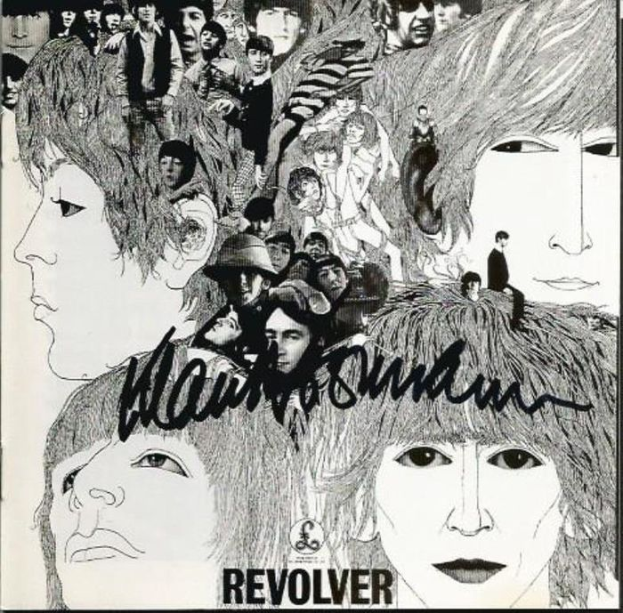 "The Beatles ""Revolver"" CD Signed by Klaus Voorman Designer of Album Cover & CD with COA"