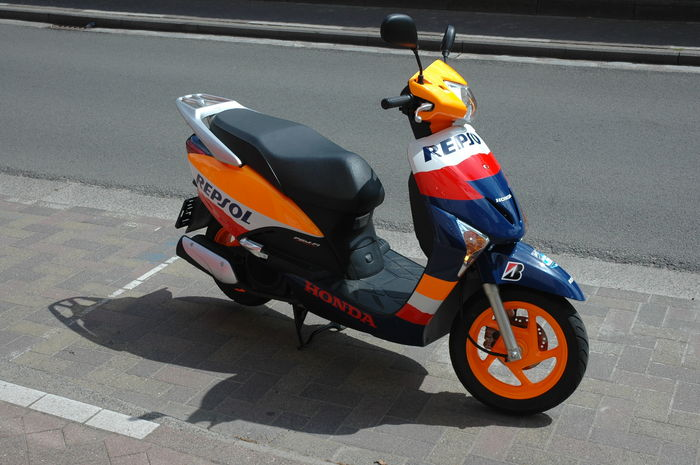 Pits Scooter Honda Repsol Team From Danny Pedrosa And Casey