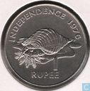 "Seychellen 1 rupee 1976 ""Declaration of Independence - James Mancham"""