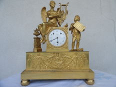 Bailly mantel clock – Gold-plated bronze – France – Circa 1825