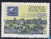 100th anniversary of the Argentine confederation stamp