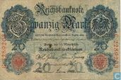 Reichsbanknote,  20 mark 1906 (P25b)