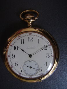 Waltham gold men's pocket watch – ca. 1910