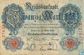 Reichsbanknote, 20 mark 1906 (P25a)