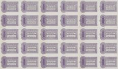 Netherlands - 10 guilder 1944 - original sheet of 30 notes - private emergency money WW-II - Rotterdam - PL 843.3