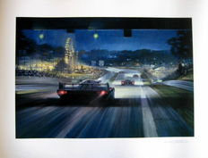 "Giclee Print  - ""All the Fun of the Fair"" - Winning Porsche 956 Le Mans 1983  : Artist Michael Turner"