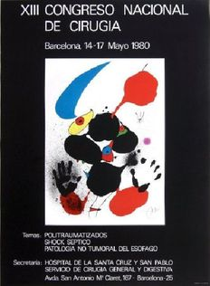 Joan Miro - poster for the Congreso Nacional de Cirugia in Barcelona - 1980