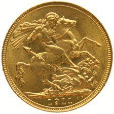 England – Sovereign  1911 George V   gold.