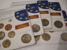 Germany - year pack 2012 A, D, F, G, J, including 5x 2 Euro 'Neuschwanstein'