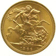 England – Sovereign 1966 Elizabeth II – gold