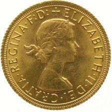 England – Sovereign, 1966, Elizabeth II, gold