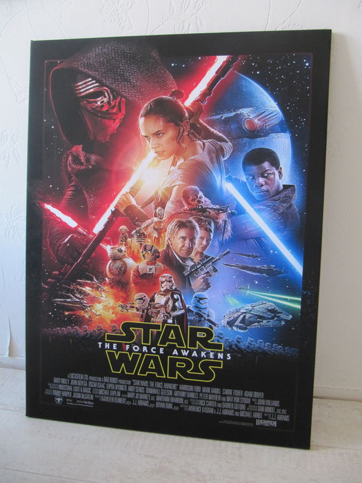star wars episode vii das erwachen der macht poster auf leinwand 75 x 100 cm catawiki. Black Bedroom Furniture Sets. Home Design Ideas