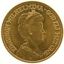 The Netherlands – 10 guilder coin 1912, Wilhelmina – gold
