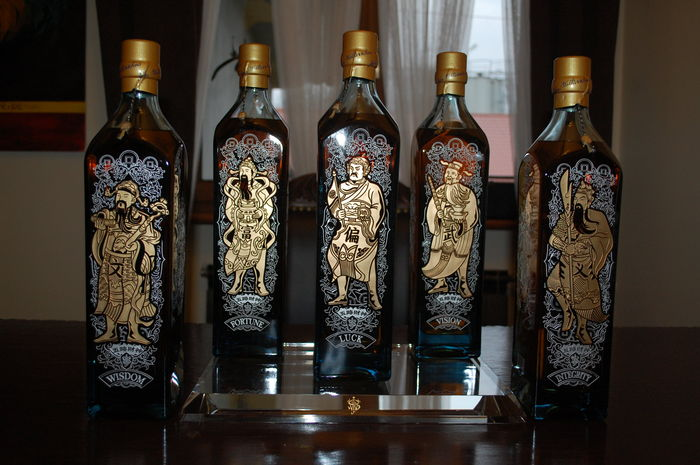 5 bottles - Johnnie Walker 5 Gods set 1.75