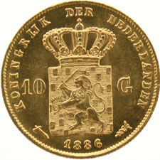 The Netherlands - 10 Guilders 1886 Willem III - gold