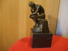 Bronze sculpture of ''THE THINKER'' by RODIN - (LE PENSEUR) in perfect condition / copy of the original statue