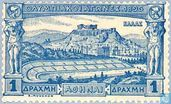Postage Stamps - Greece - Acropolis and Stadium