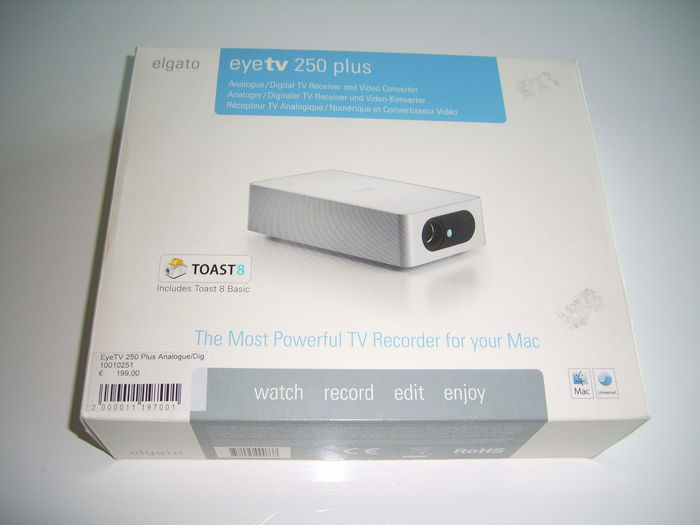Elgato EyeTV 250 Plus Digital/Analog TV Receiver and Video