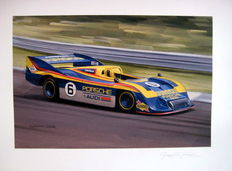 "Giclee Print  - ""Can Am Porsche 1973"" - Winning Porsche 917/30 #6 Mark Donohue : Artist Graham Turner"
