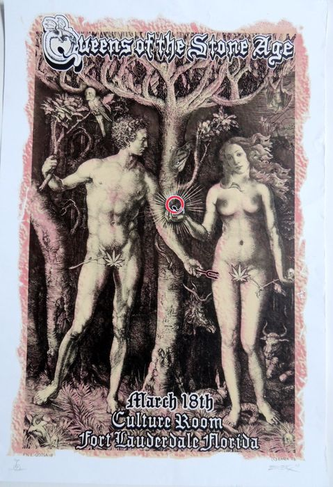 Queens of the Stone Age rare Emek Poster 2003