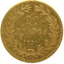 France – 20 francs 1831 A - Louis Philippe I – gold
