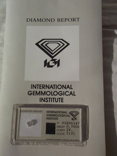 Certified natural diamond – 0.70 ct – I/IF – GREAT INVESTMENT