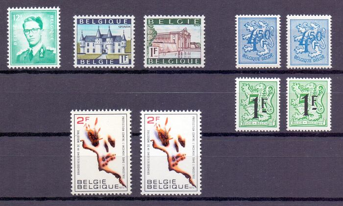 belgique 1966 1981 s lection de timbres avec certaines. Black Bedroom Furniture Sets. Home Design Ideas