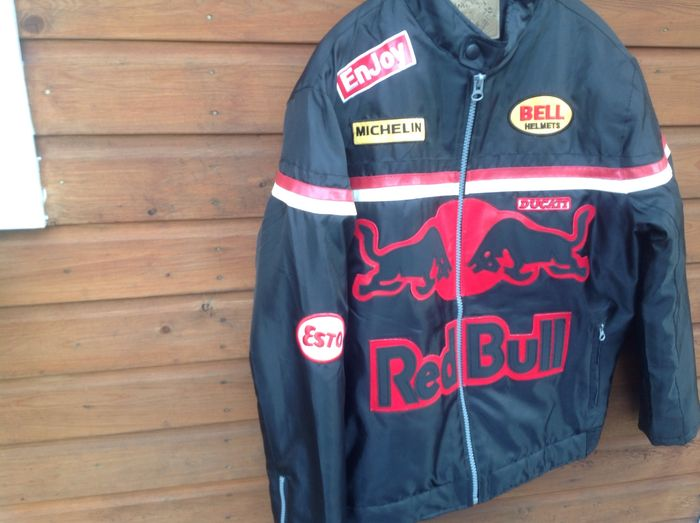 ducati red bull blouson de moto dikesen taille xl. Black Bedroom Furniture Sets. Home Design Ideas