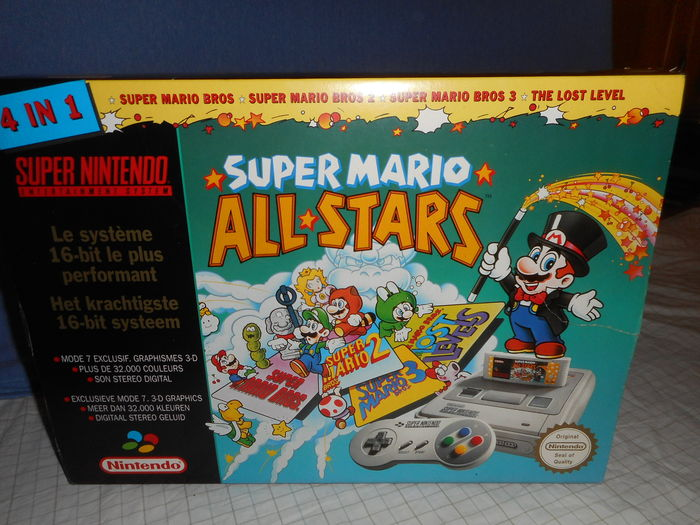 bda301d7083 Nintendo SNES Super Mario All Stars Pack With all cables , 1 Controller and  1 Game