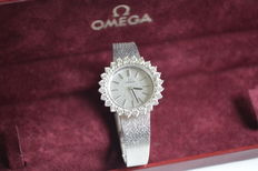Omega Watch Co. - Women's watch, white gold with diamonds - 1977