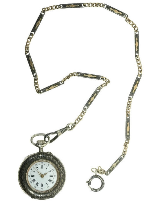 8e7847687 Silver ladies' pocket watch with French lilies – 1930 - Catawiki