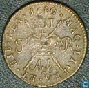 Ireland 1 shilling 1689 (Aug t)