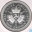 "Île de Man 1 crown 1977 (BE) ""25th Anniversary of the Accession of Queen Elizabeth II"""