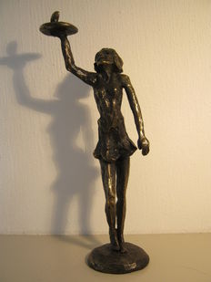 Astrid Veldhuyzen-Koppen - Heavy, signed and dated sculpture - made on commission - height 24 cm.