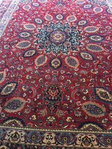 Marvellous original Persian KASCHMAR CARPET, in exclusive plant-like colours! Approx. 300 x 400 cm - PERSIA - Signed! Free shipping within Europe!