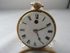 Gilt Verge Fusee Pocket Watch. Circa 1824 Crafted by James Jew
