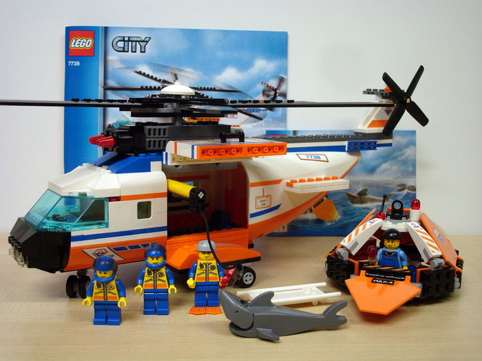 City 7738 7726 Coast Guard Helicopter And Life Raft Coast
