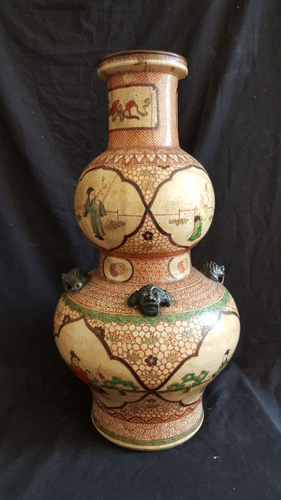 Double pumpkin vase in stoneware – China – XIX century