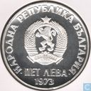 "Bulgarije 5 leva 1973 (PROOF) ""50th Anniversary of Anti-fascist uprising"""