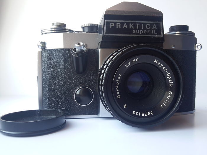 Pentacon praktica super tl domiplan 2.8 50 lens meyer optik