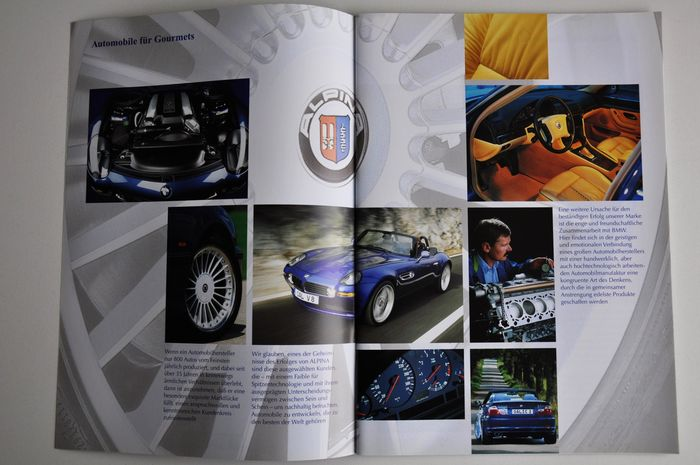 BMW Alpina brochures, 10 pieces, from the year 2003