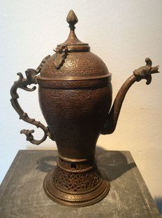 Engraved Copper Samovar - Persia - 19th century