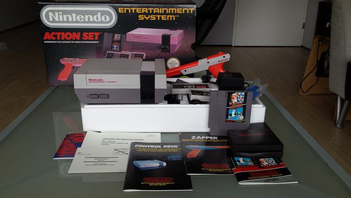 nintendo entertainment system action set complete in box catawiki