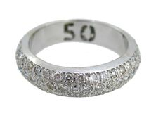 Eternity band ring made of 18 kt gold with approx. 2.03 ct of diamonds with gemmological certificate