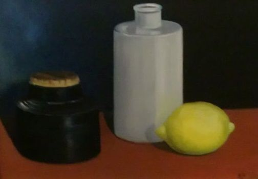 H Ten Bosch 20th21st Century Still Life With Lemon And Vases