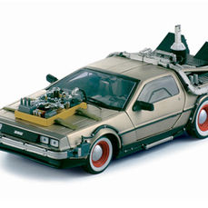 """De Lorean The Time Machine from the movie """"Back to the Future"""" Part III - Sun Star - Scale 1/18"""