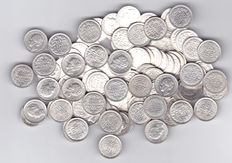 The Netherlands - 10 cent up to 1944 (100 pieces) Wilhelmina - silver