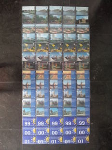 The Netherlands - year packs from 1987 through 2001, five complete series (75 pieces in total).