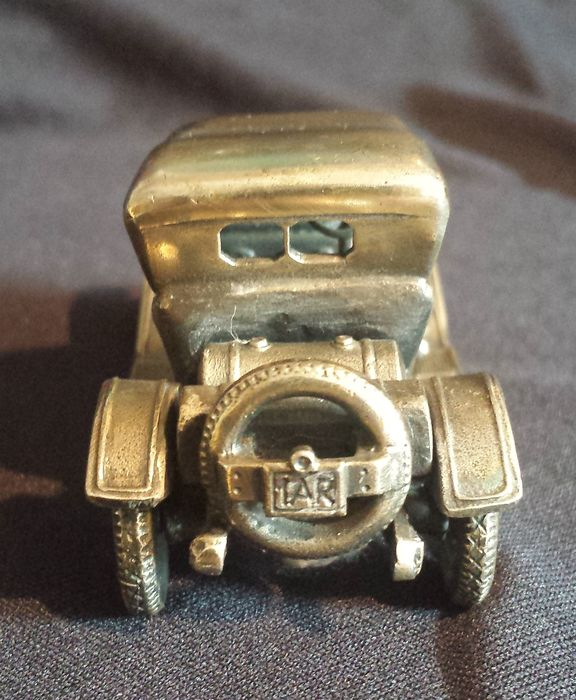 miniature car made of silver unoaerre italy 20th
