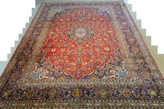 Gorgeous look, Persian carpet Kaschan 341 x 243 cm End of the 20th century